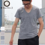 【RE PRICE/価格改定】ガラガラ紡 Uネック半袖Tシャツ【MADE IN JAPAN】『日本製』/ Upscape Audience