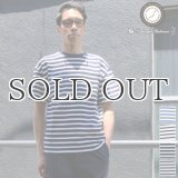 BSQボーダークルーネック胸ポケ付ビックT 【MADE IN JAPAN】『日本製』/ Upscape Audience