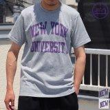 "【RE PRICE / 価格改定】NEW YORK UNIVERSITY""NEW YORK UNIVERSITY""C/N S/S 6.6oz オールドプリントT / Audience"