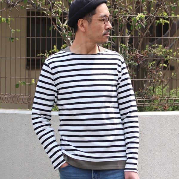 画像2: Basque 10オンス ( バスク天竺 ) ボートネックレイヤードカットソー【MADE IN JAPAN】『日本製』 / Upscape Audience
