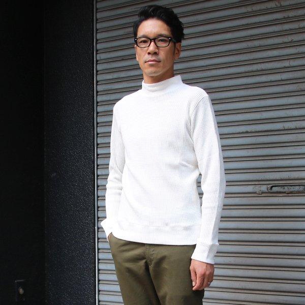 画像2: BIGワッフルモックネック長袖ニットソー【MADE IN JAPAN】『日本製』/ Upscape Audience
