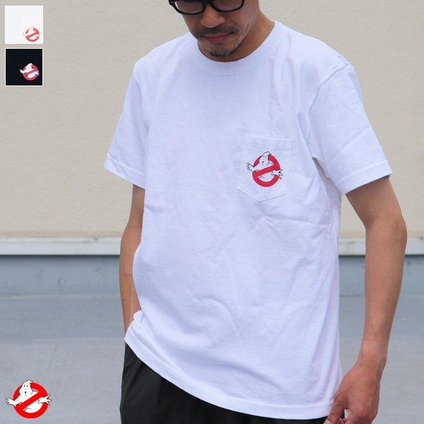 """画像1: Ghost Busters """"Michael C. Gross Logo-I"""" 7.1oz米綿丸胴オールドプリントクルーネックポケットT / Audience"""