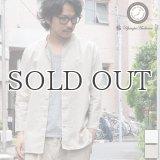 コットンリネンキャンバスマオカラークォータースリーブジャケット【MADE IN JAPAN】『日本製』【送料無料】 / Upscape Audience