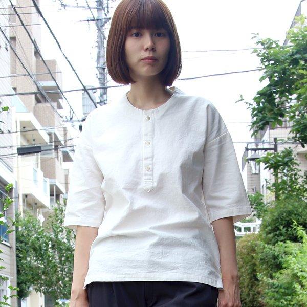 画像2: コットンリネンキャンバスジンベエTOPSシャツ [Lady's] 【MADE IN JAPAN】『日本製』/ Upscape Audience