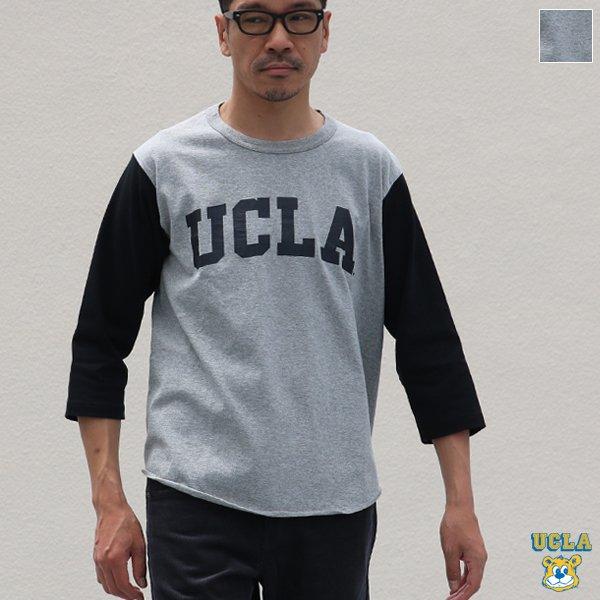 """画像1: オールドプリント""""UCLA""""ヴィンテージセットインベースボールアンダーTEE / Audience"""