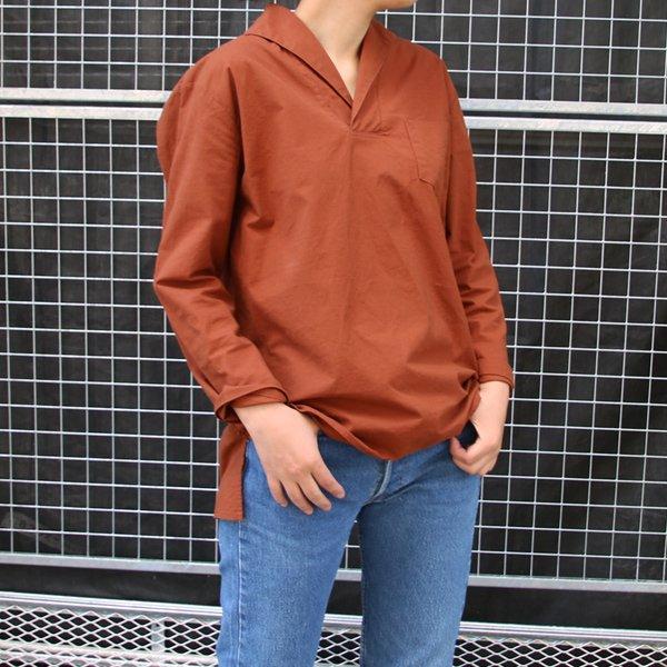 画像2: コットンクロススキッパーカラープルオーバーポケ付9分袖_Shirts【Lady's】【MADE IN JAPAN】『日本製』 / Upscape Audience