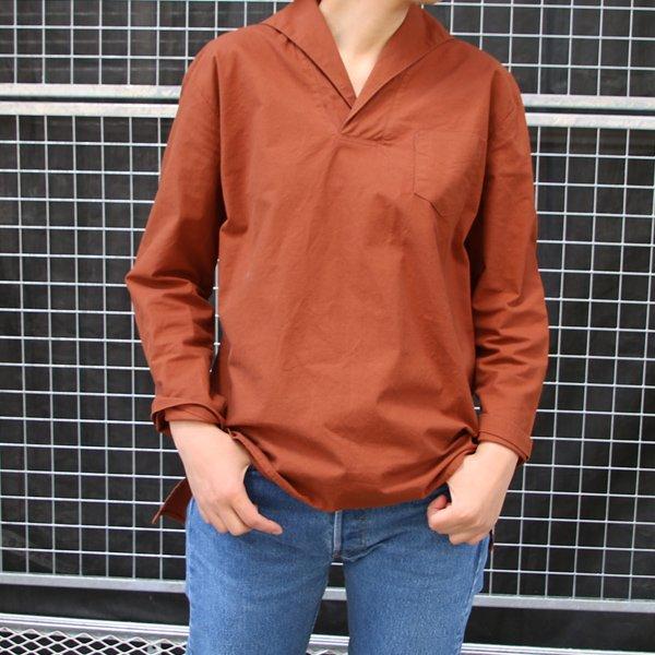 画像3: コットンクロススキッパーカラープルオーバーポケ付9分袖_Shirts【Lady's】【MADE IN JAPAN】『日本製』 / Upscape Audience
