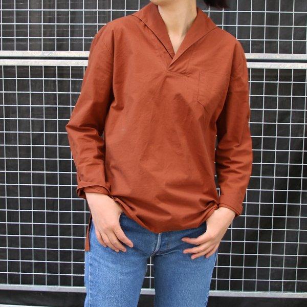画像4: コットンクロススキッパーカラープルオーバーポケ付9分袖_Shirts【Lady's】【MADE IN JAPAN】『日本製』 / Upscape Audience