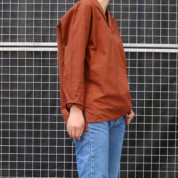 画像5: コットンクロススキッパーカラープルオーバーポケ付9分袖_Shirts【Lady's】【MADE IN JAPAN】『日本製』 / Upscape Audience