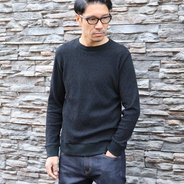 画像2: ケーブルクルーネック長袖ニットソー【MADE IN JAPAN】『日本製』/ Upscape Audience