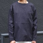 More photos1: コットンギャバジンボートネックP/O ポケット付L/SシャツTEE【MADE IN JAPAN】『日本製』/ Upscape Audience