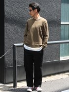 More photos1: ランダムワッフル グラスポケット付き C/N L/S ニットソー【MADE IN JAPAN】『日本製』/ Upscape Audience