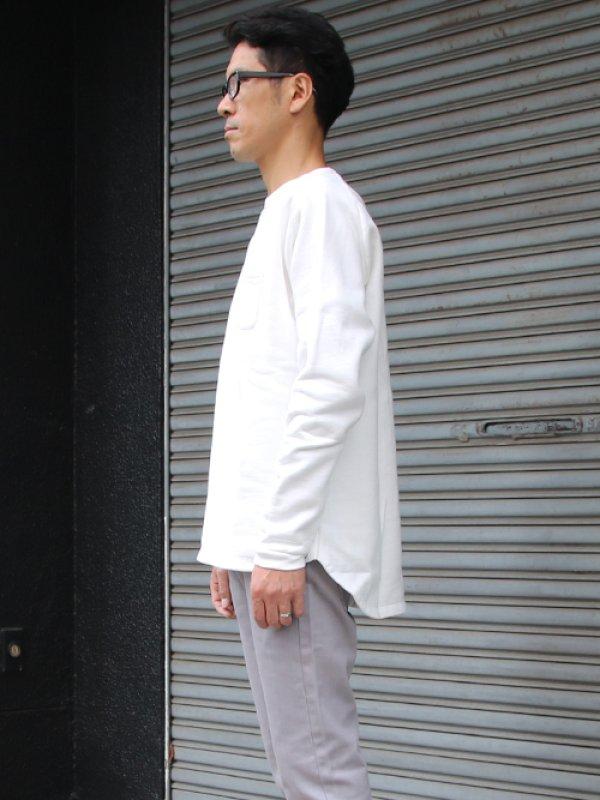 画像3: 30/7ヴィンテージ裏起毛 ヘムラウンド胸ポケット C/N L/S スウェット【MADE IN TOKYO】『東京製』/ Upscape Audience【一部ご予約・11月上旬入荷予定】