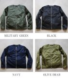 More photos2: 【RE PRICE / 価格改定】ヴィンテージナイロンツイル ノーカラーJacket【MADE IN JAPAN】『日本製』  / Upscape Audience