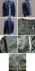 More photos1: 【RE PRICE / 価格改定】ヴィンテージナイロンツイル ノーカラーJacket【MADE IN JAPAN】『日本製』  / Upscape Audience