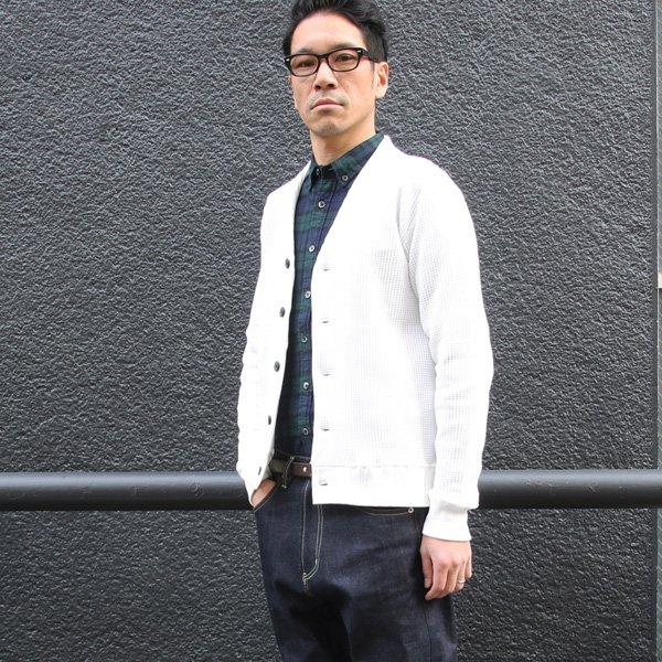 画像2: ビックワッフルモックVネックカーディガン【MADE IN JAPAN】『日本製』 / Upscape Audience