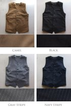 More photos1: 【RE PRICE / 価格改定】ウールライクツイルストレッチ Vネックベスト【MADE IN JAPAN】『日本製』 / Upscape Audience