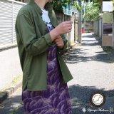 コットンギャバジンスタンドスモールカラー9分袖 ライト_Jacket【MADE IN JAPAN】『日本製』/ Upscape Audience