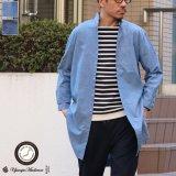 コットンリネンダンガリー ローマシャツコート【MADE IN JAPAN】『日本製』/ Upscape Audience