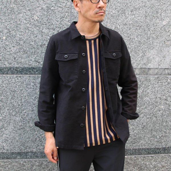 画像2: パウダースノーバックサテン ユーティリティシャツジャケット【MADE IN JAPAN】『日本製』 / Upscape Audience