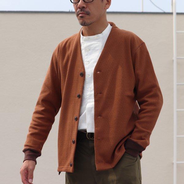 画像2: 【ボンバーヒート】爆暖ハニカムサーマル モックVネック カーディガン【MADE IN JAPAN】『日本製』 / Upscape Audience