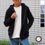 ボンバーヒート爆暖裏起毛スタンドフードZIPパーカー【MADE IN JAPAN】『日本製 / Upscape Audience