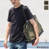 デッドストックレインカモテント生地×Leather Travel Tote Bag 【送料無料】 / Upscape Audience VASCO