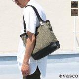 デッドストックレインカモテント生地×Leather Travel Mini Tote Bag 【送料無料】 / Upscape Audience VASCO