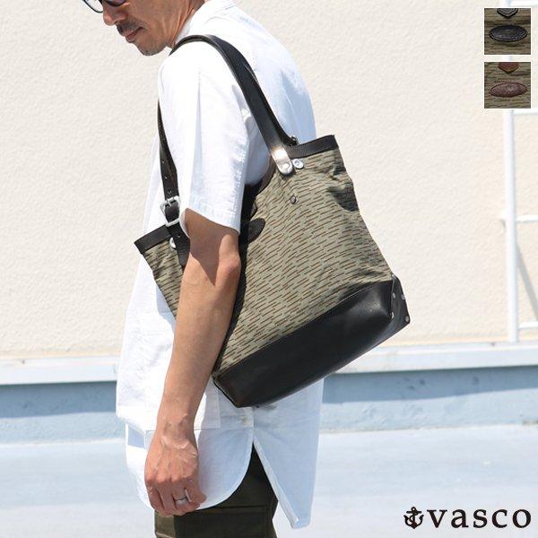 画像1: デッドストックレインカモテント生地×Leather Travel Mini Tote Bag 【送料無料】 / Upscape Audience VASCO