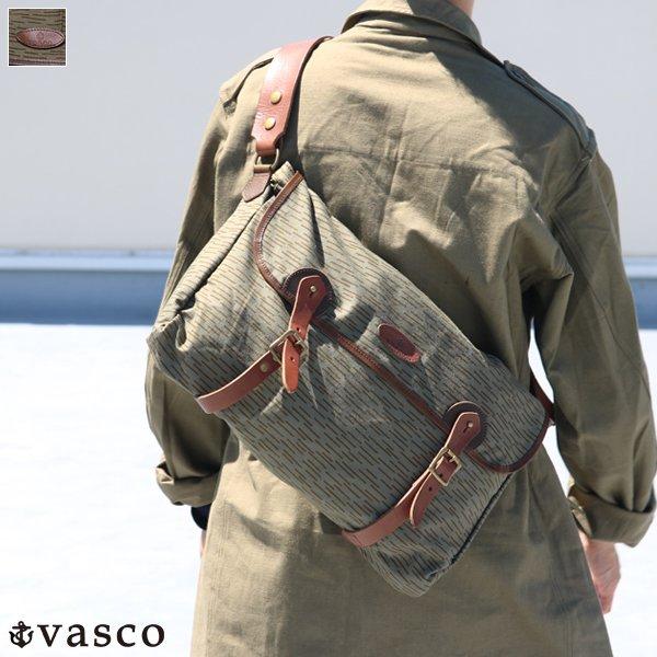 画像1: VASCO デッドストックレインカモテント生地×Leather Fishing Shoulder Bag 【送料無料】 / Upscape Audience