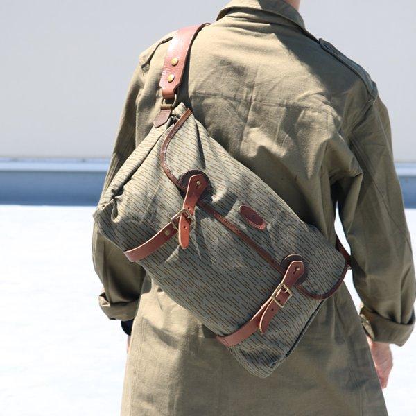 画像2: VASCO デッドストックレインカモテント生地×Leather Fishing Shoulder Bag 【送料無料】 / Upscape Audience