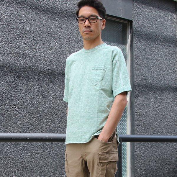 画像2: 吊編天竺 C/Nスプリットスリーブ 胸ポケ付 Tee【MADE IN TOKYO】『東京製』  / Upscape Audience