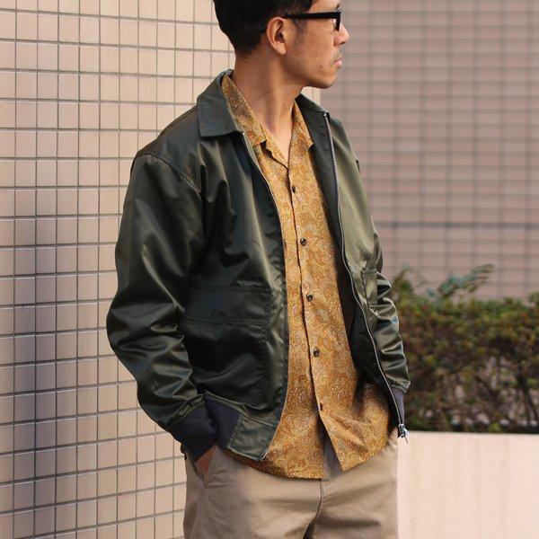 画像2: サラサ柄コットンクロス オープンカラーL/Sシャツ【MADE IN JAPAN】『日本製』/ Upscape Audience