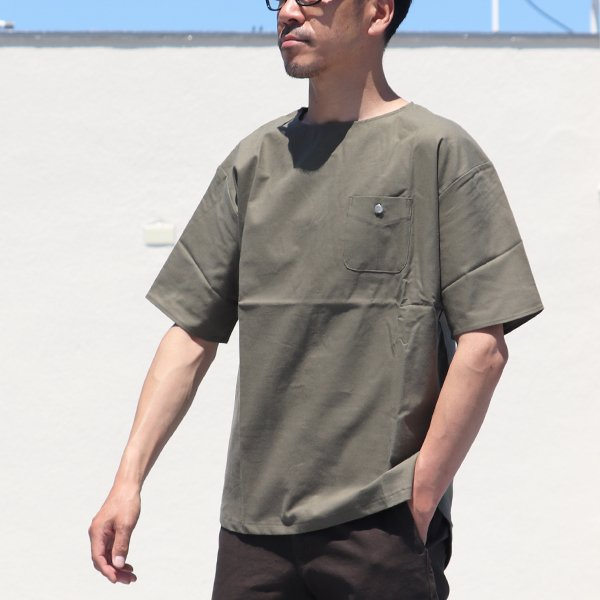 画像2: コットンクロスBACKヘンリーコンチョ釦 ポケS/Sシャツ【MADE IN JAPAN】『日本製』 / Upscape Audience