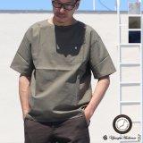 コットンクロスBACKヘンリーコンチョ釦 ポケS/Sシャツ【MADE IN JAPAN】『日本製』 / Upscape Audience