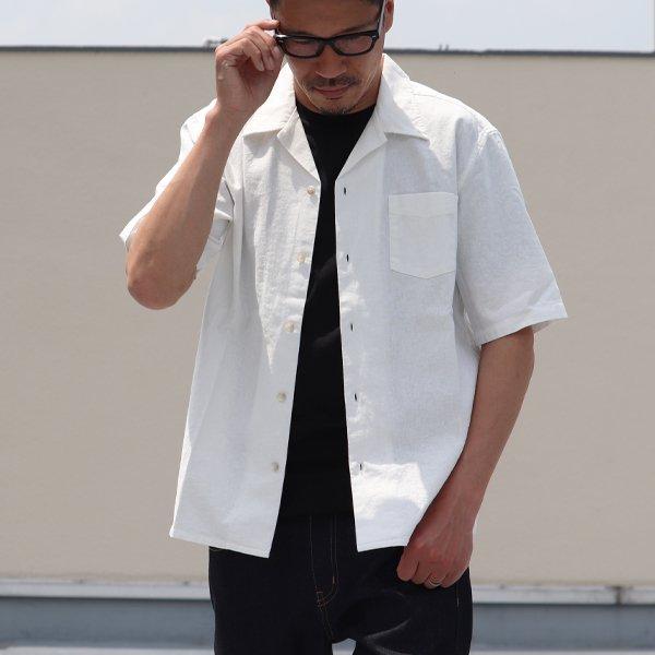 画像2: ソフトリネンコットンキャンバスオープンカラー ルーズフィットシャツ【MADE IN JAPAN】『日本製』/ Upscape Audience