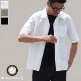 ソフトリネンコットンキャンバスオープンカラー ルーズフィットシャツ【MADE IN JAPAN】『日本製』/ Upscape Audience