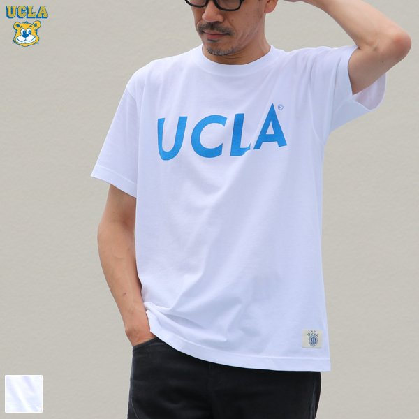 "画像1: 6.2oz丸胴UCLA""UCLA SIMPLE LOGO""オールドプリントTEE / Audience"