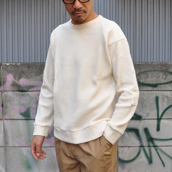 画像2: ビッグワッフル コマンドセーター【MADE IN JAPAN】『日本製』 / Upscape Audience