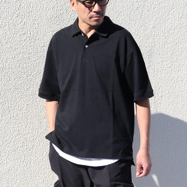 画像2: コットンシアサッカー天竺 ハーフスリーブ ポロシャツ【MADE IN JAPAN】『日本製』 / Upscape Audience【ご予約・3月下旬予定】