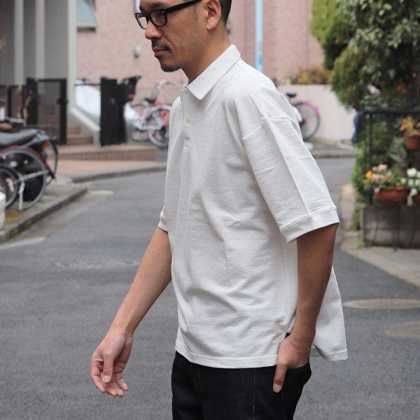 画像2: コットンシアサッカー天竺 ハーフスリーブ ポロシャツ【MADE IN JAPAN】『日本製』 / Upscape Audience