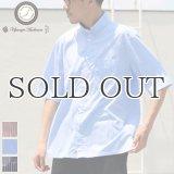 レジメンタルスタンドスモールカラー ハーフスリーブシャツ【MADE IN JAPAN】『日本製』/ Upscape Audience