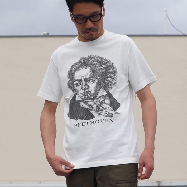 画像2: 16/1吊編天竺 Beethoven プリント 半袖 Tee【MADE IN TOKYO】『東京製』/ Upscape Audience