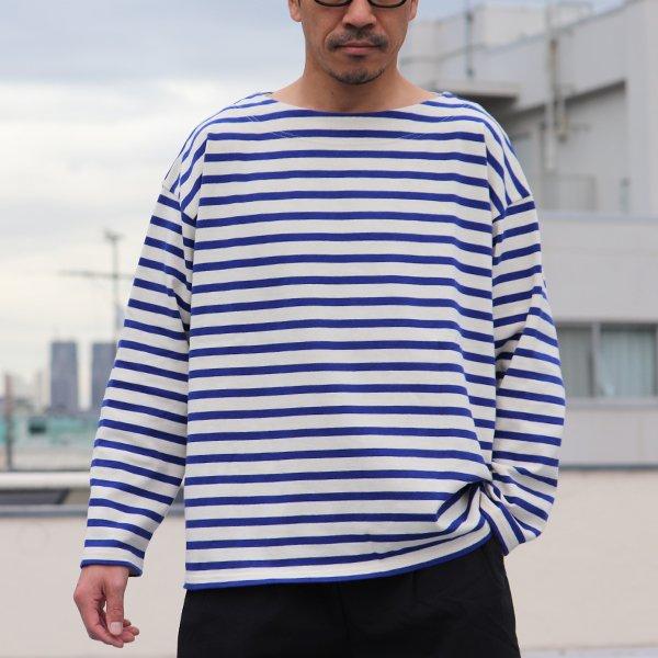 画像2: Basque10オンス(バスク天竺)フレンチボーダー ボートネック BOX Tee【MADE IN JAPAN】『日本製』/ Upscape Audience