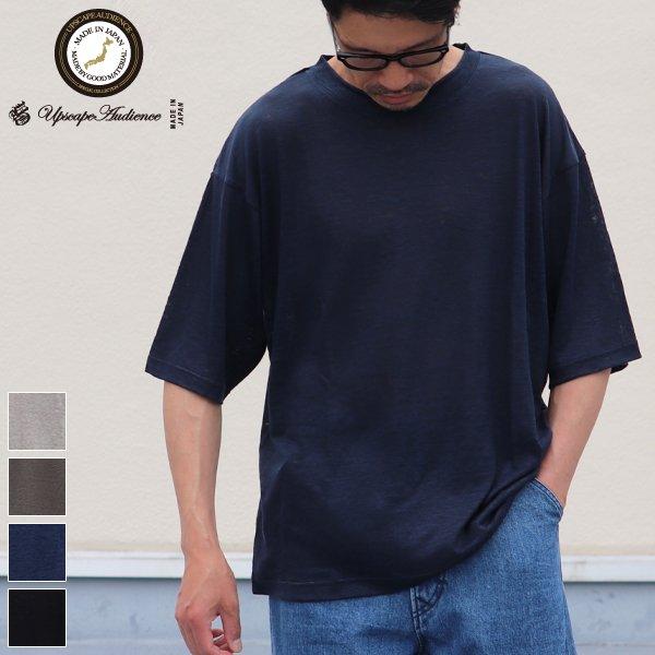 画像1: PREMIERE LINEN(プレミアリネン)天竺 クルーネック レギュラーTシャツ【MADE IN JAPAN】『日本製』 / Upscape Audience