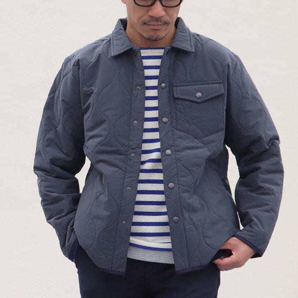 画像2: 【耐水撥水コットンタッチナイロン】Teflon(テフロン)ウェーブキルト CPOスナップジャケット【MADE IN JAPAN】『日本製』【送料無料】 / Upscape Audience