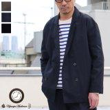 グリストーンW コットンナイロン高密度ギャバ Wテーラードジャケット『MADE IN JAPAN』『日本製』【送料無料】Upscape Audience【ご予約・2021年3月下旬〜4月上旬頃入荷予定】