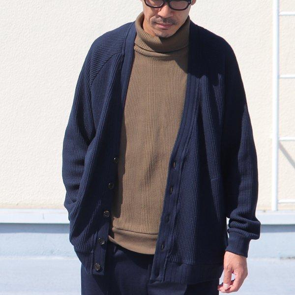 画像2: ビッグワッフル 3XL ラグラン ニットカーディガン【MADE IN JAPAN】『日本製』 / Upscape Audience