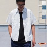 【RE PRICE/価格改定】シャンブレー半袖ワークシャツ / CAMCO(カムコ)