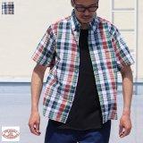 【RE PRICE/価格改定】ボタンダウンマドラスチェック半袖シャツ / THE BAGGY【バギー】